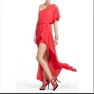 Bright coral red Kendal dress size 6